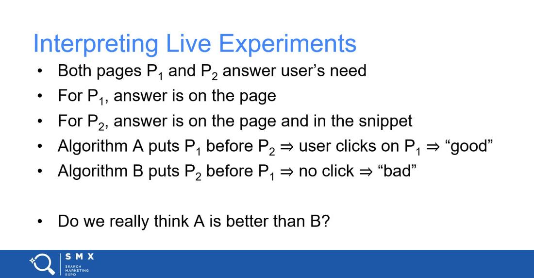Google Algorithm – Slide