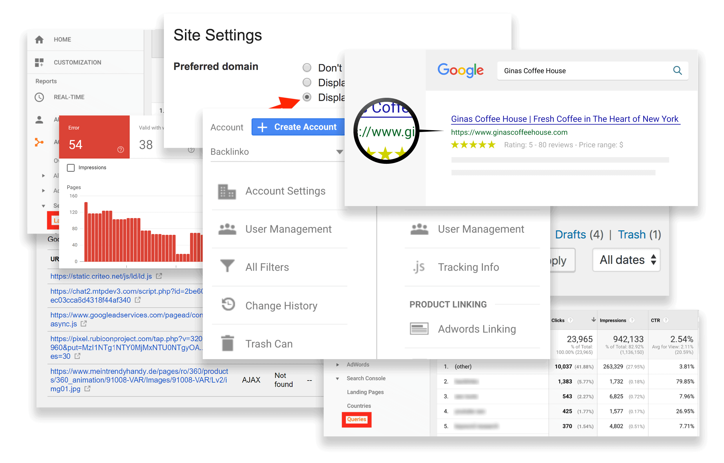 Google Search Console collage