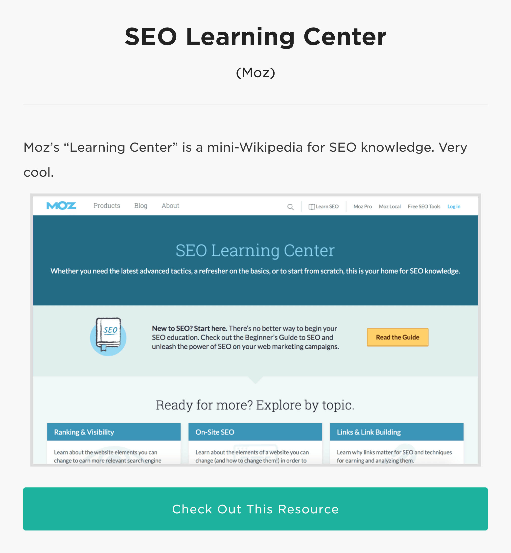 How to Learn SEO – Resources