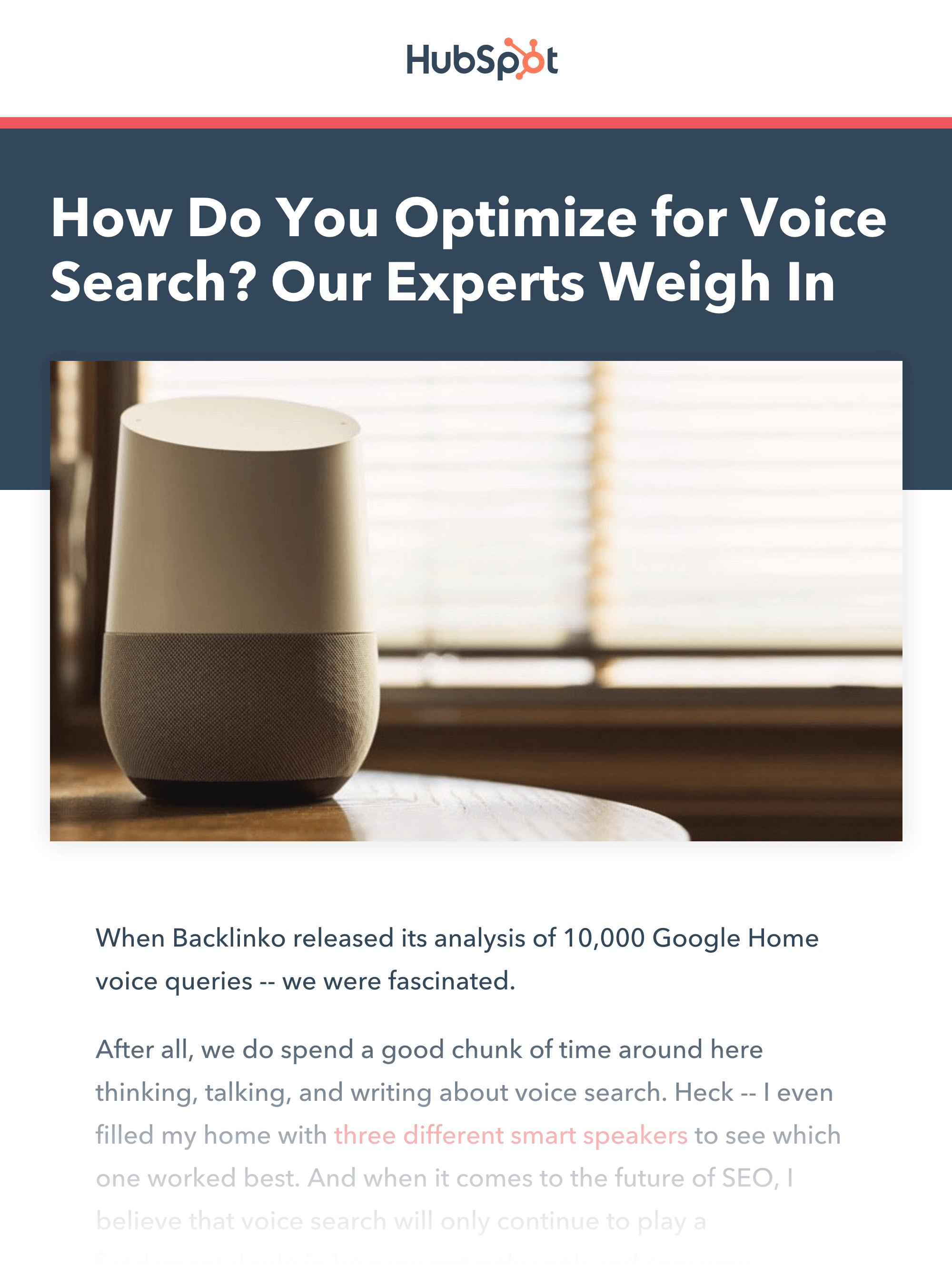 HubSpot article