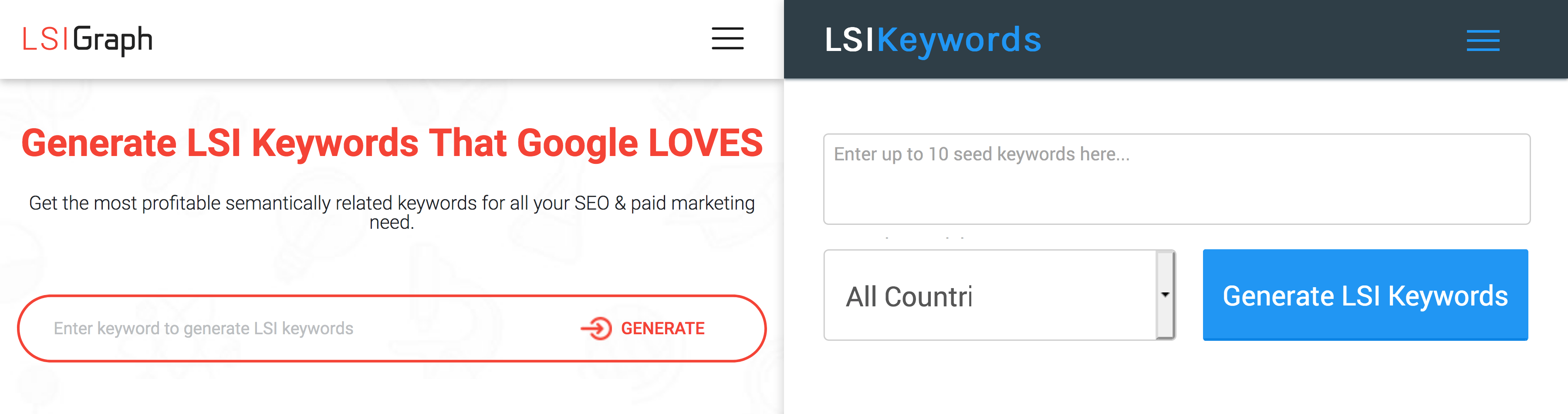 LSIGraph and LSIKeywords