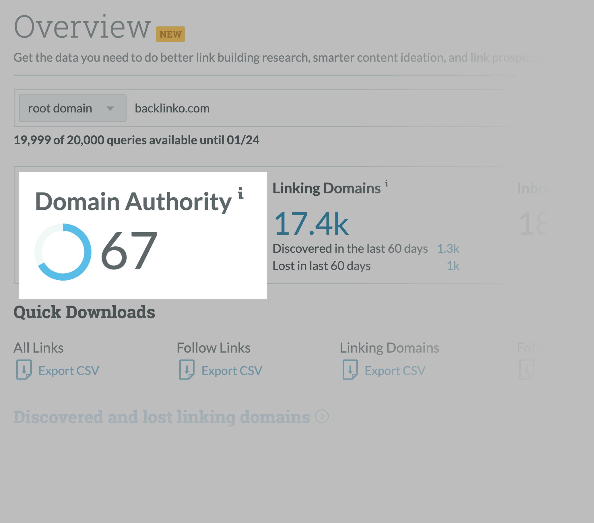 Moz link explorer domain authority