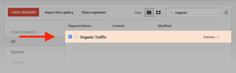 Organic Traffic filter