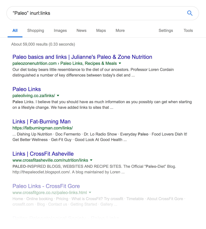 """""""Paleo"""" inurl:links"""