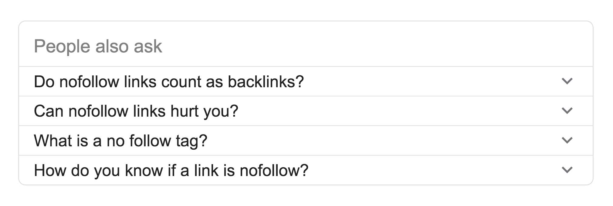 """""""People also ask"""" nofollow links"""