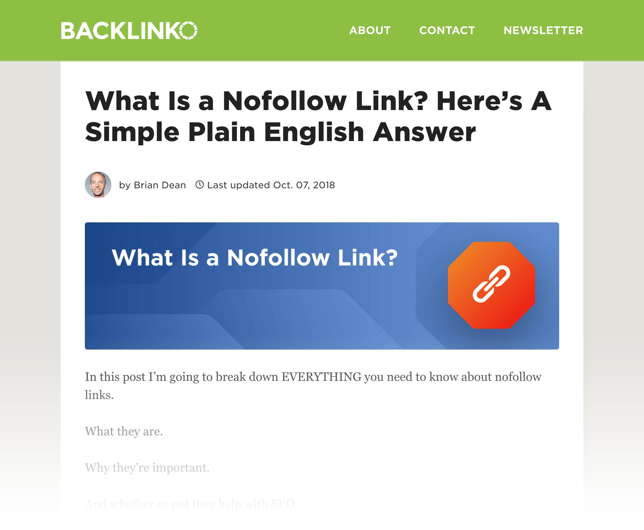 Nofollow Link post