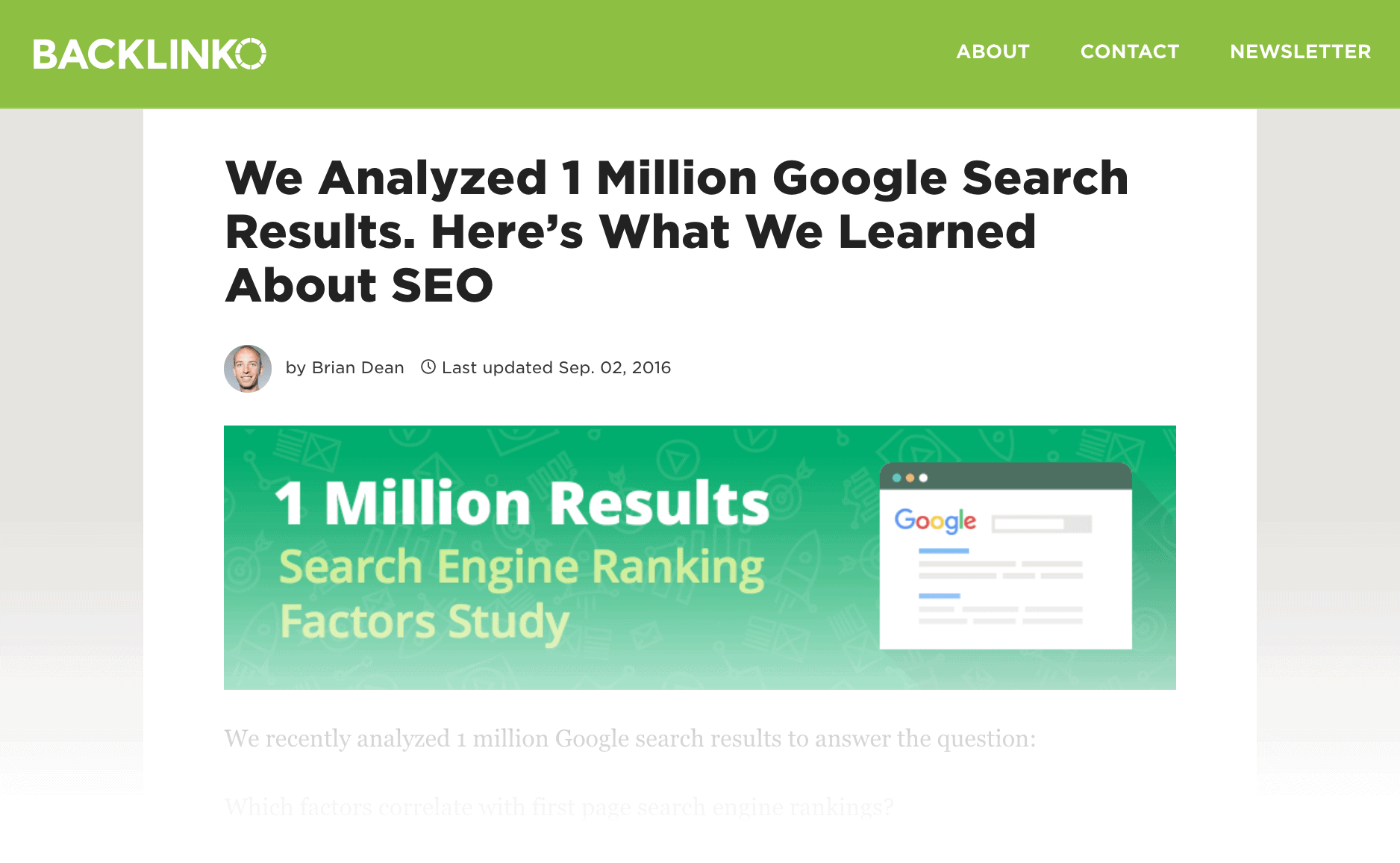 Search Engine Ranking post