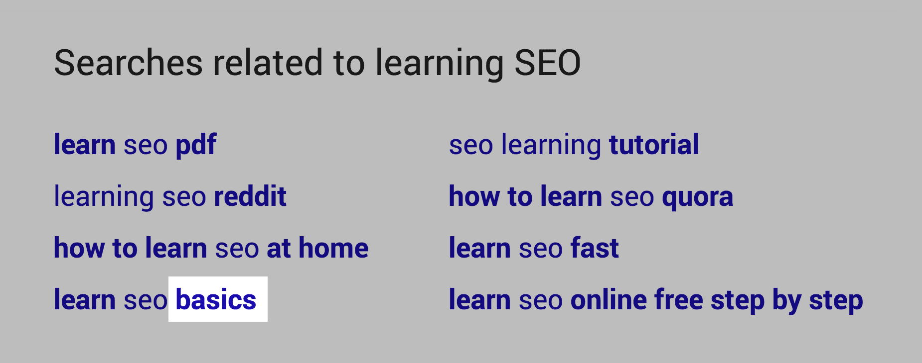 Searches related to – Basics