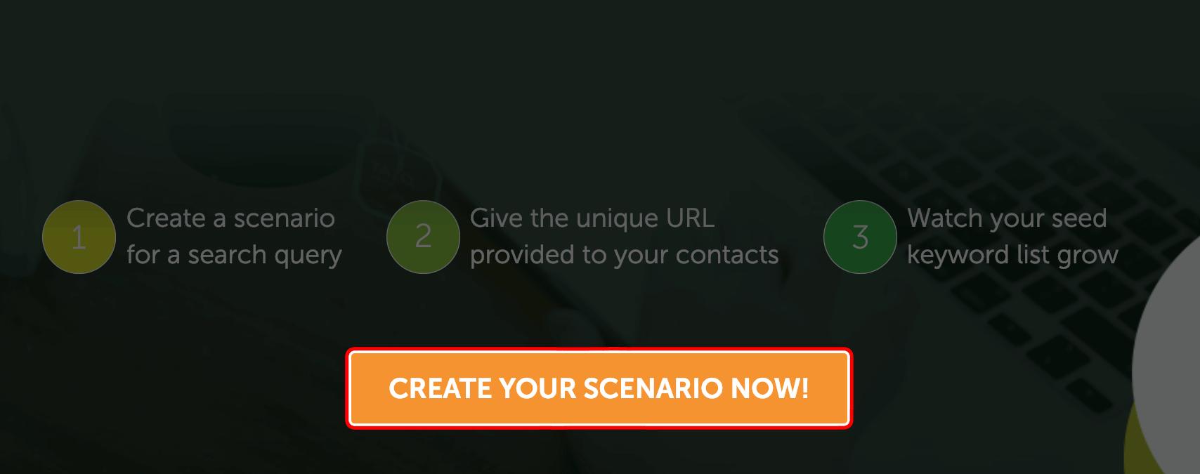 SeedKeywords – Create scenario