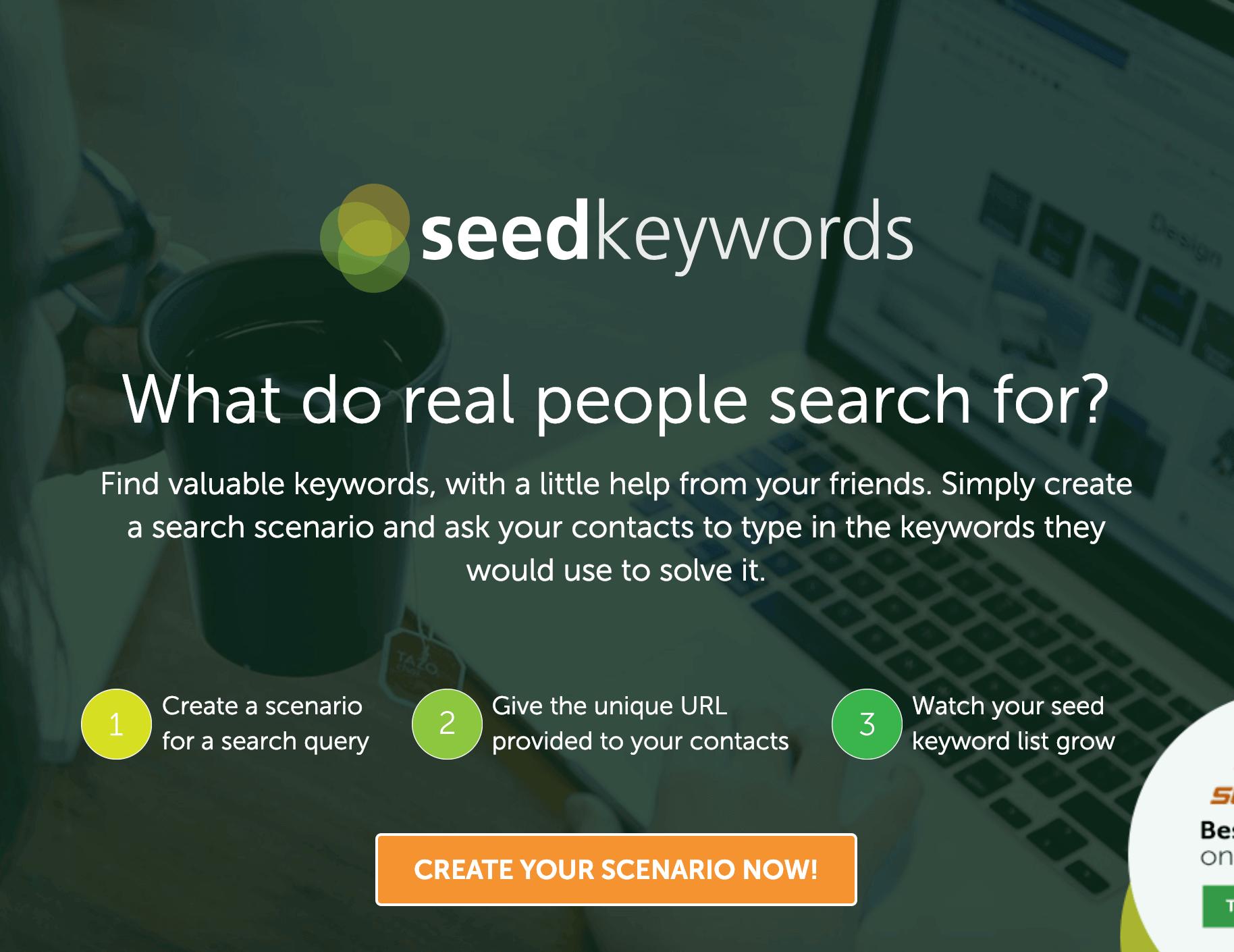 SeedKeywords – Homepage