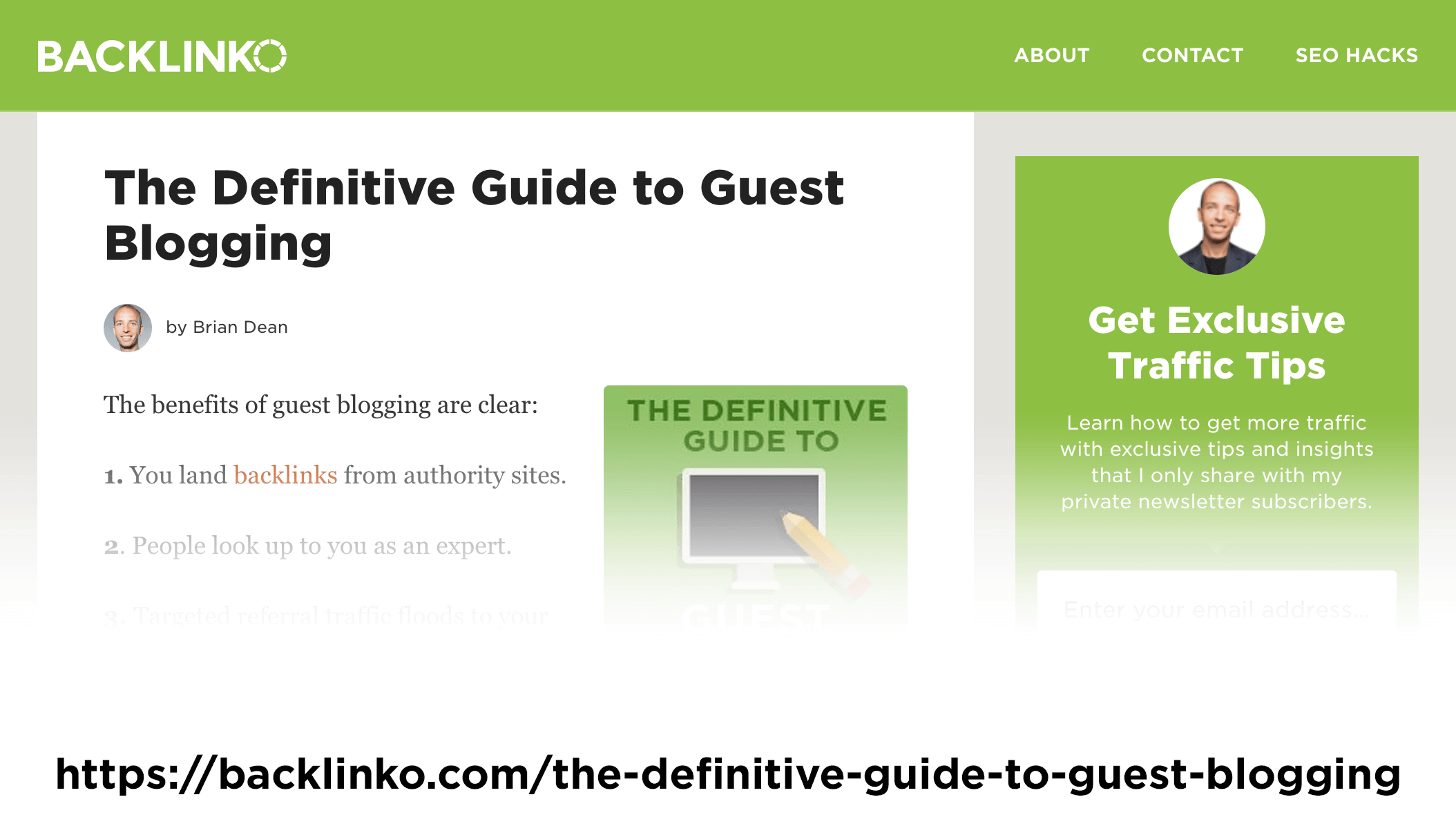 """""""The Definitive Guide to Guest Blogging"""" post – Old version"""
