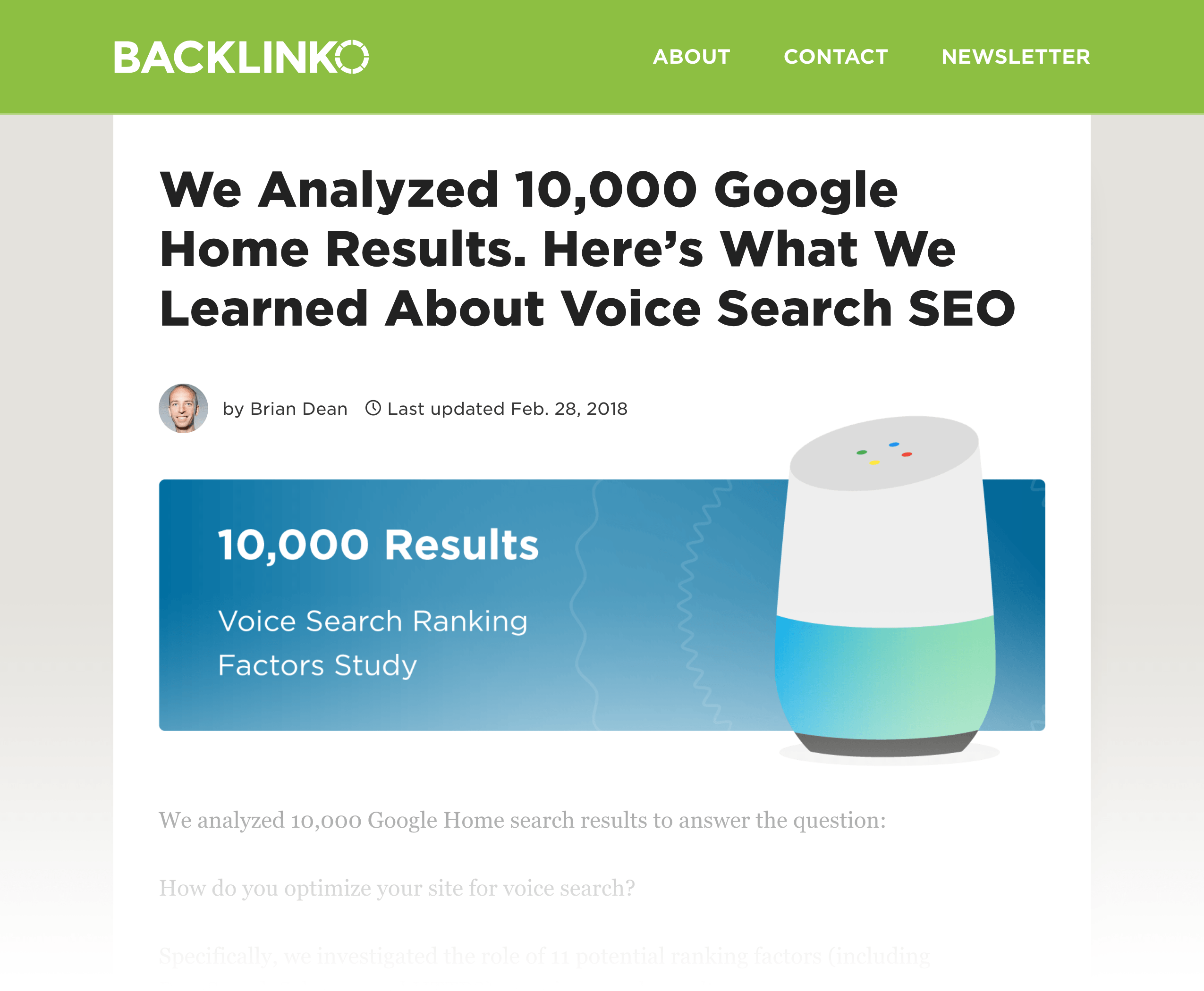 Voice Search Ranking Factors