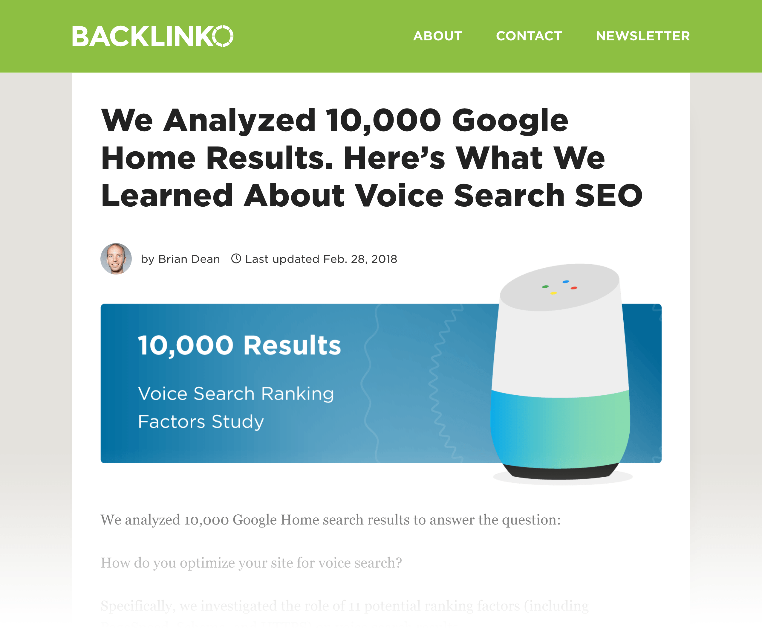 Voice Search study