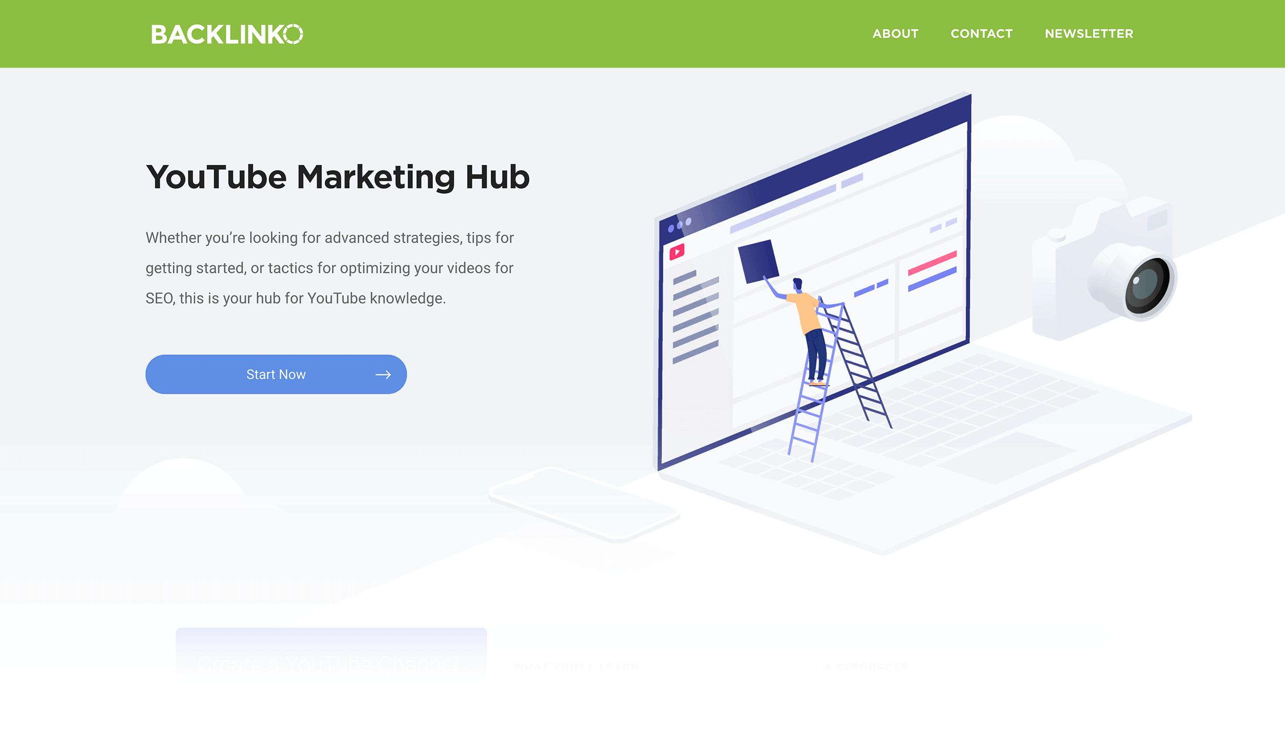 YouTube Marketing Hub – Homepage