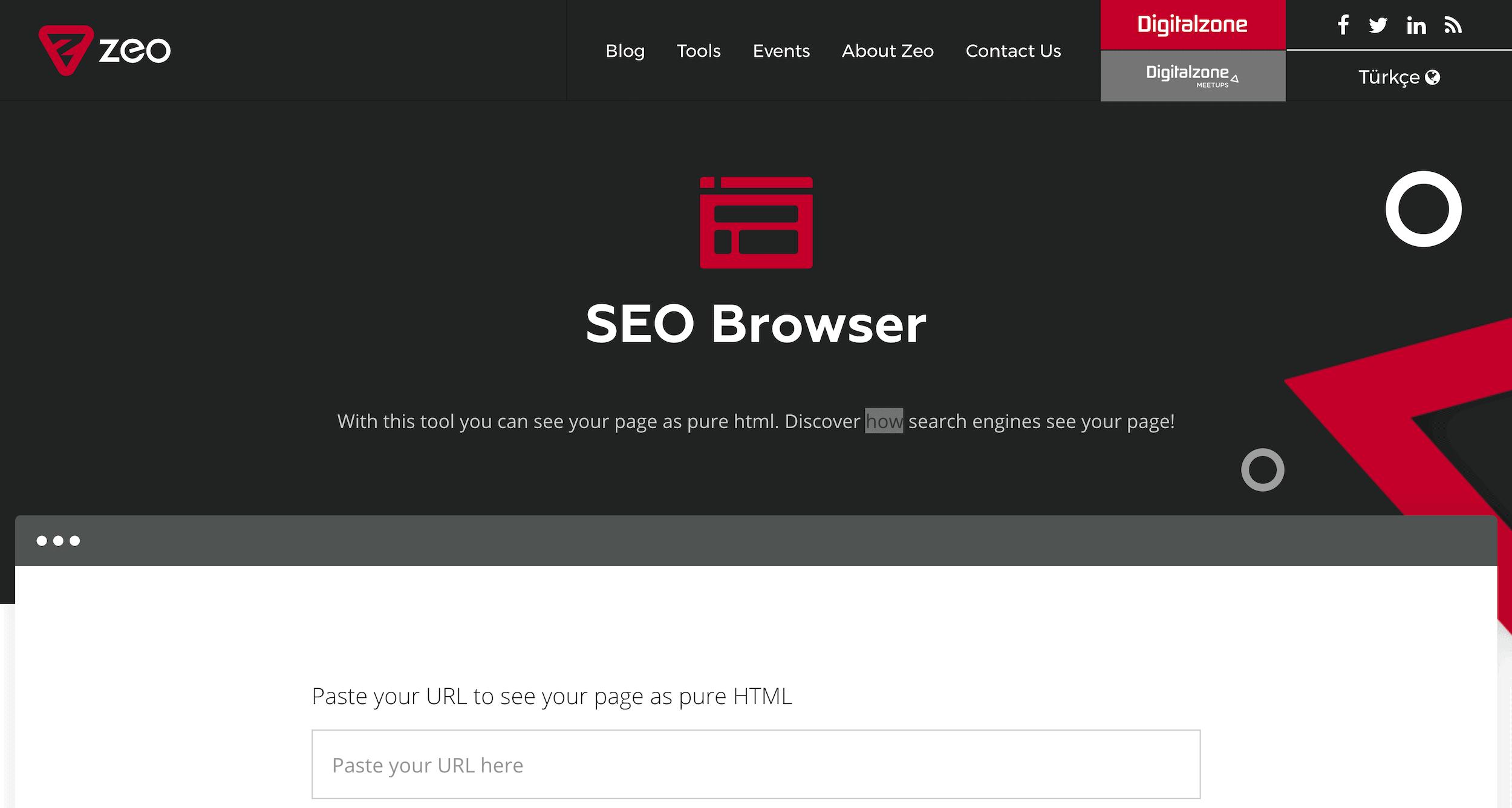 ZEO SEO browser