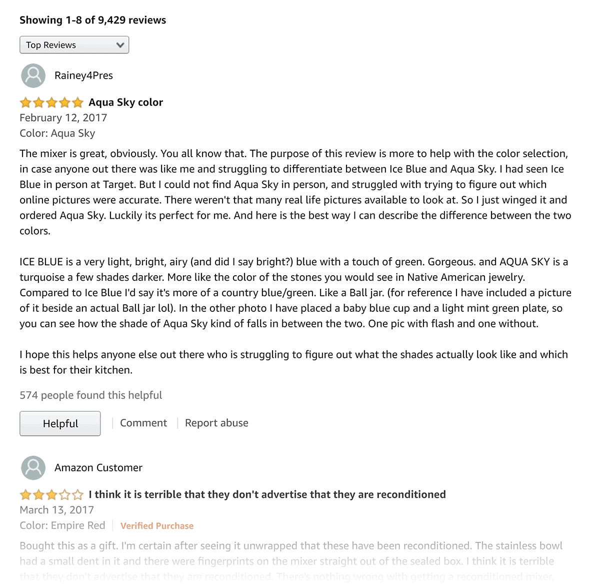 Amazon – KitchenAid – Comments