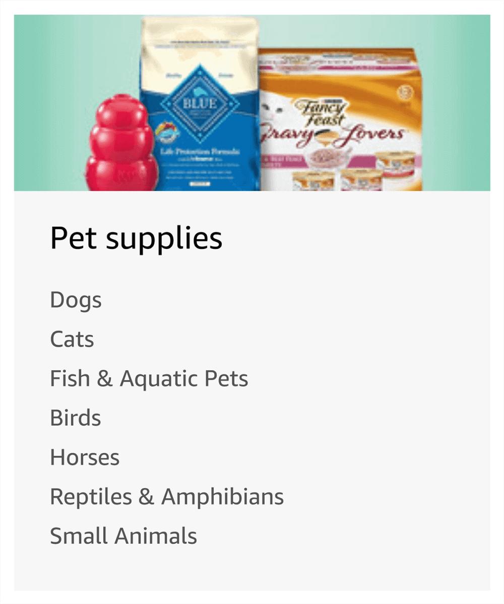 Amazon – Site Directory – Pet supplies