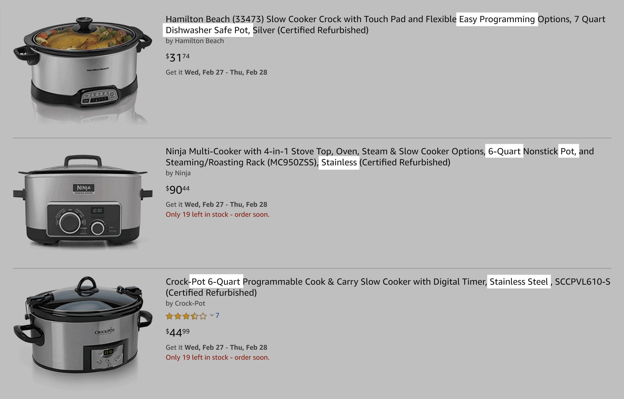Amazon – Slow cookers