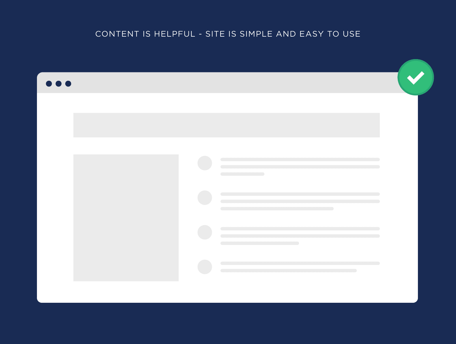 Content is helpful – Site is simple and easy to use