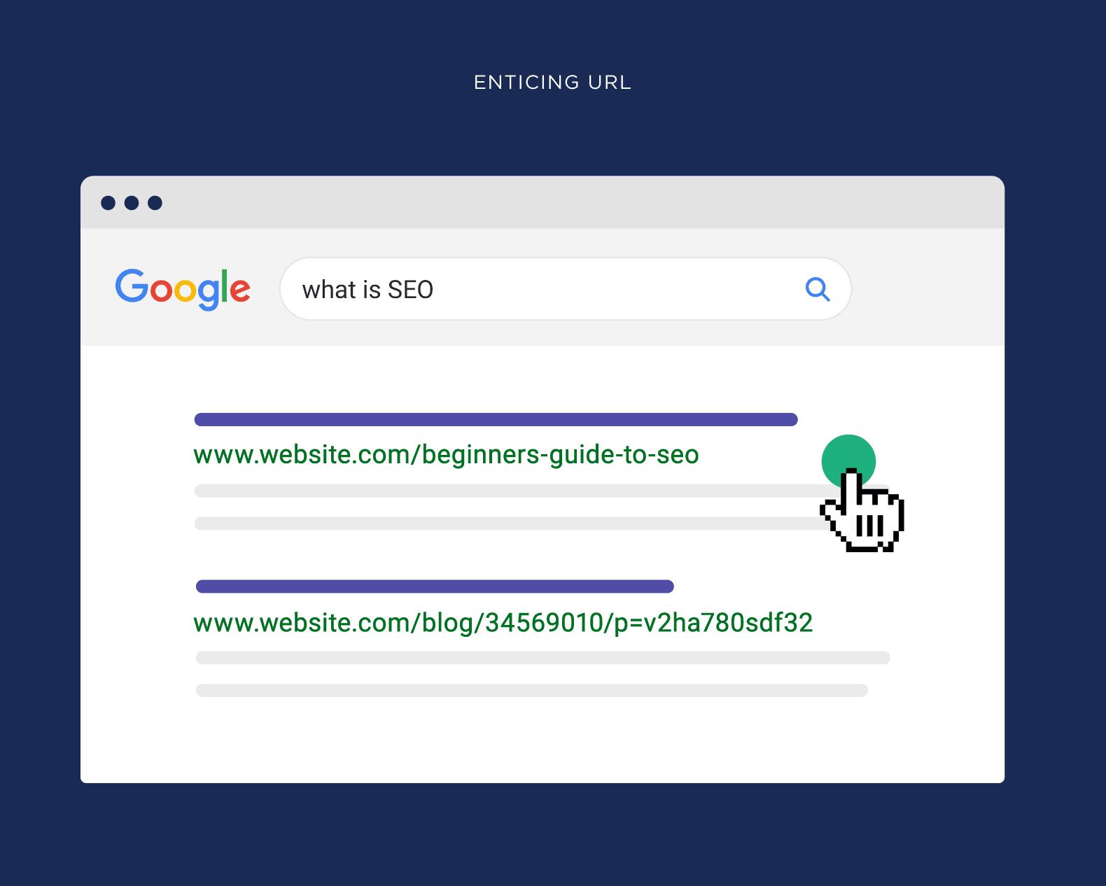 Enticing URL