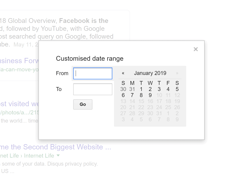 Google date range