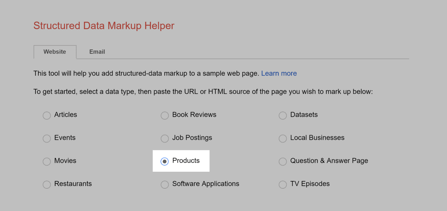 Markup Helper – Products