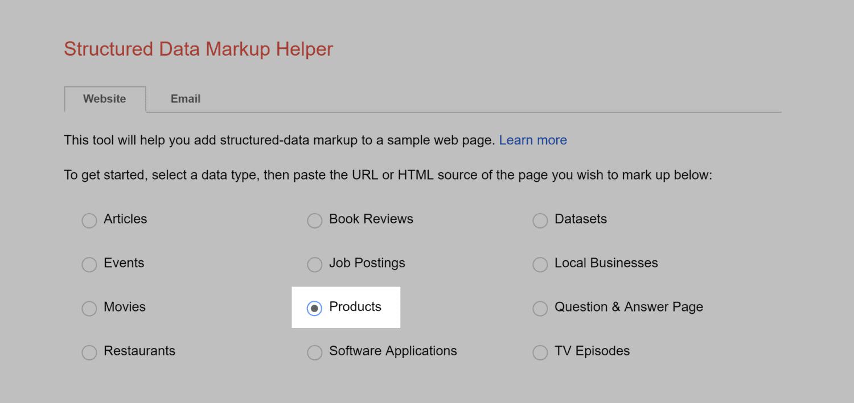 Markup Helper – Products