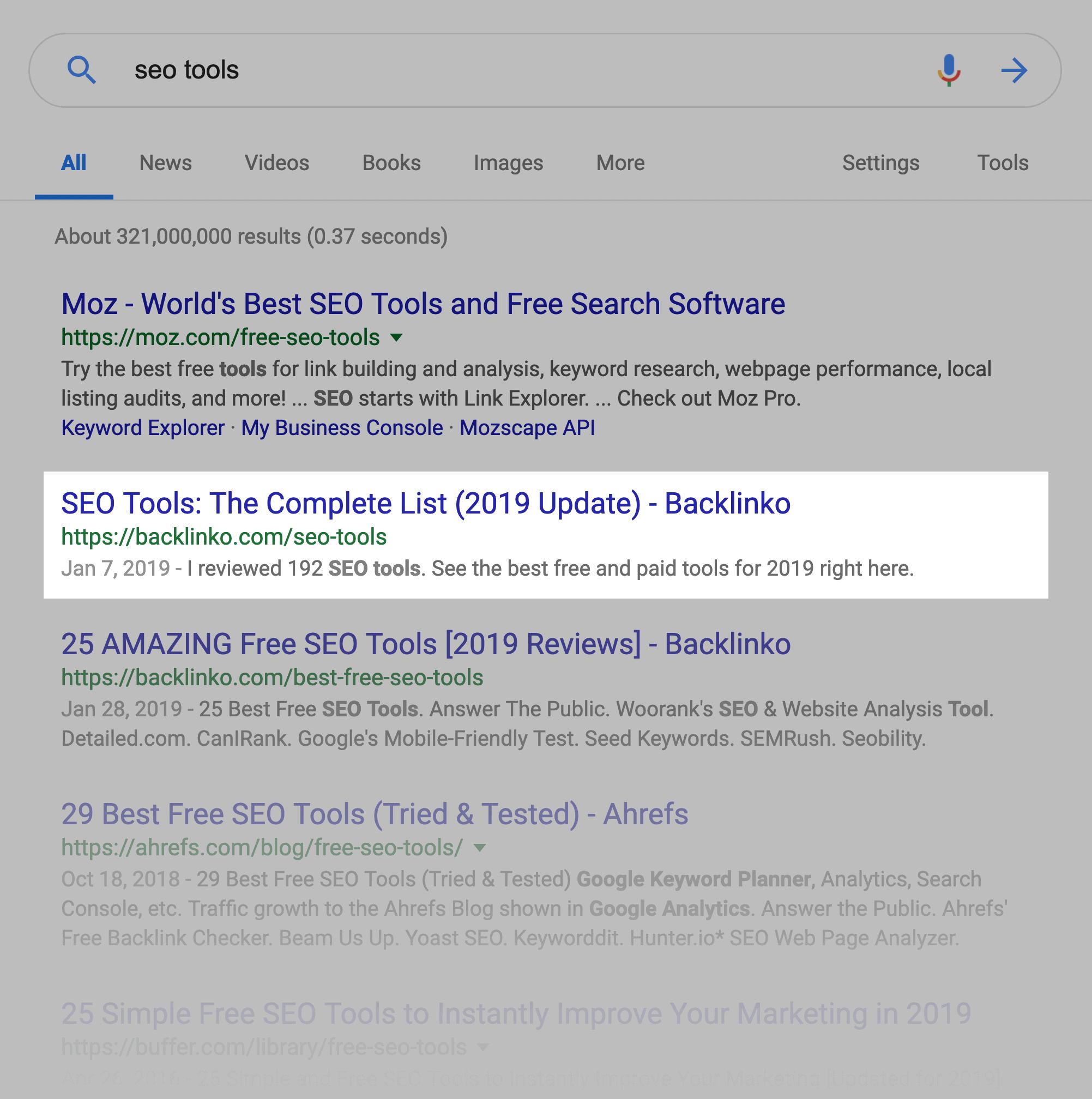"""""""seo tools"""" SERPs"""