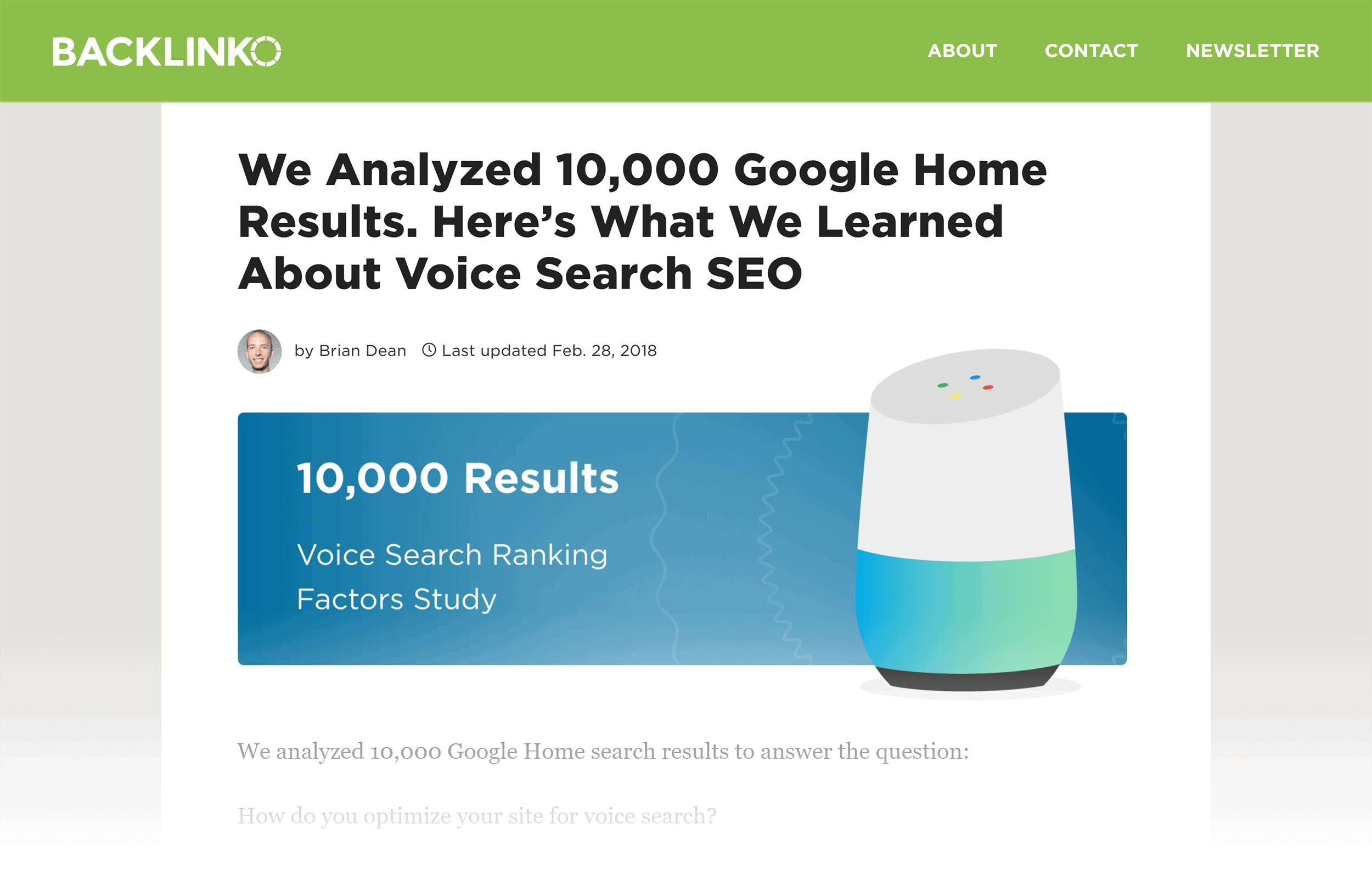 Voice Search SEO study – Post