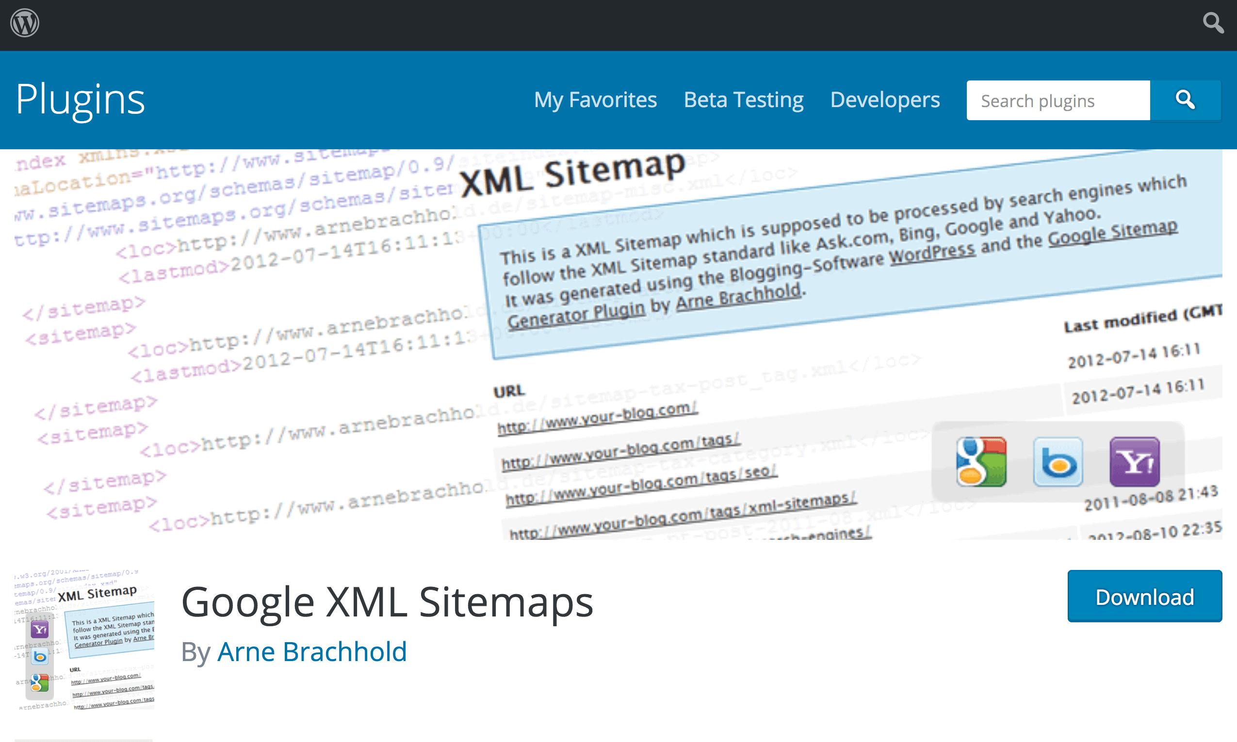 WordPress XML sitemap