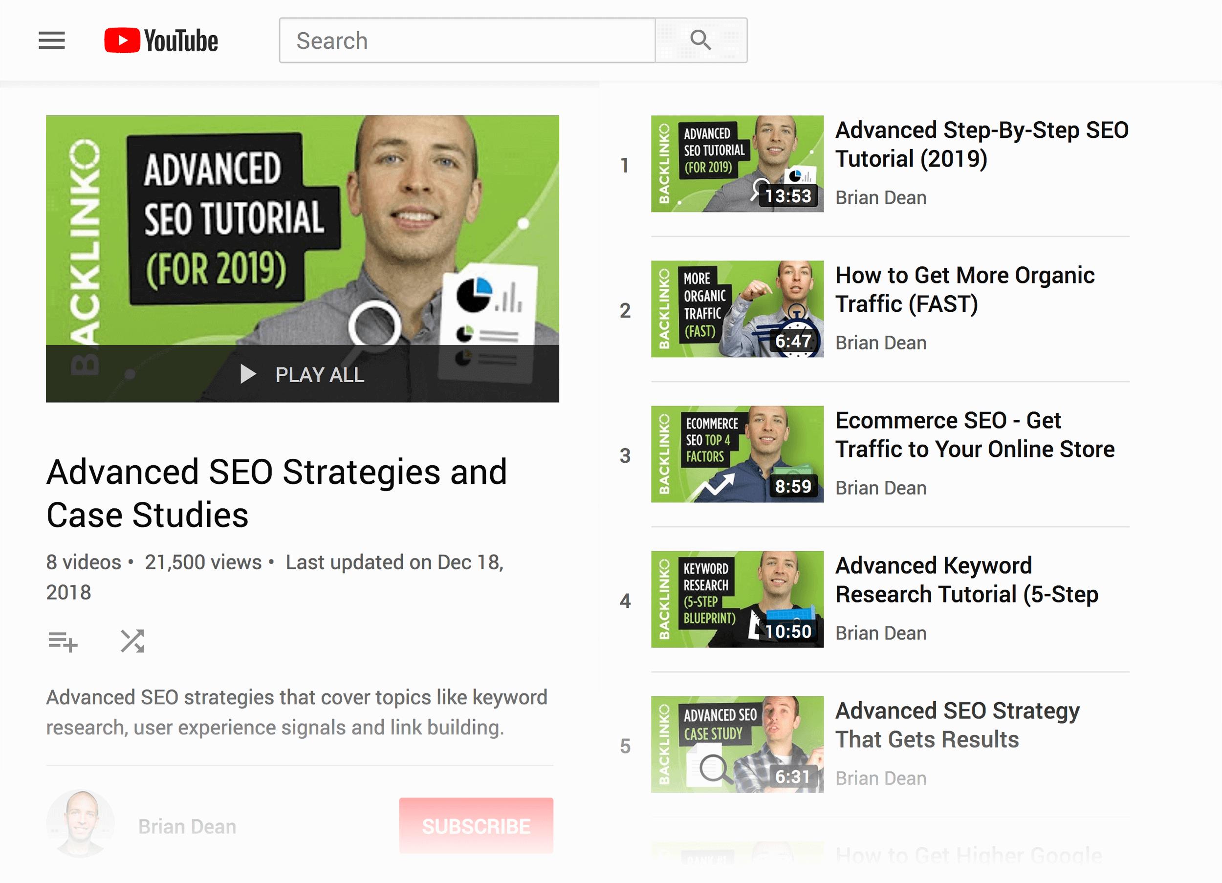 Advanced SEO Strategies – Playlist