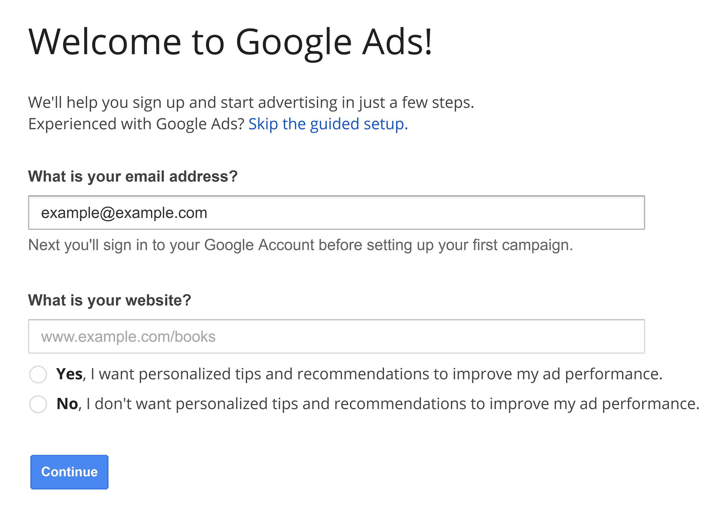 AdWords – Register