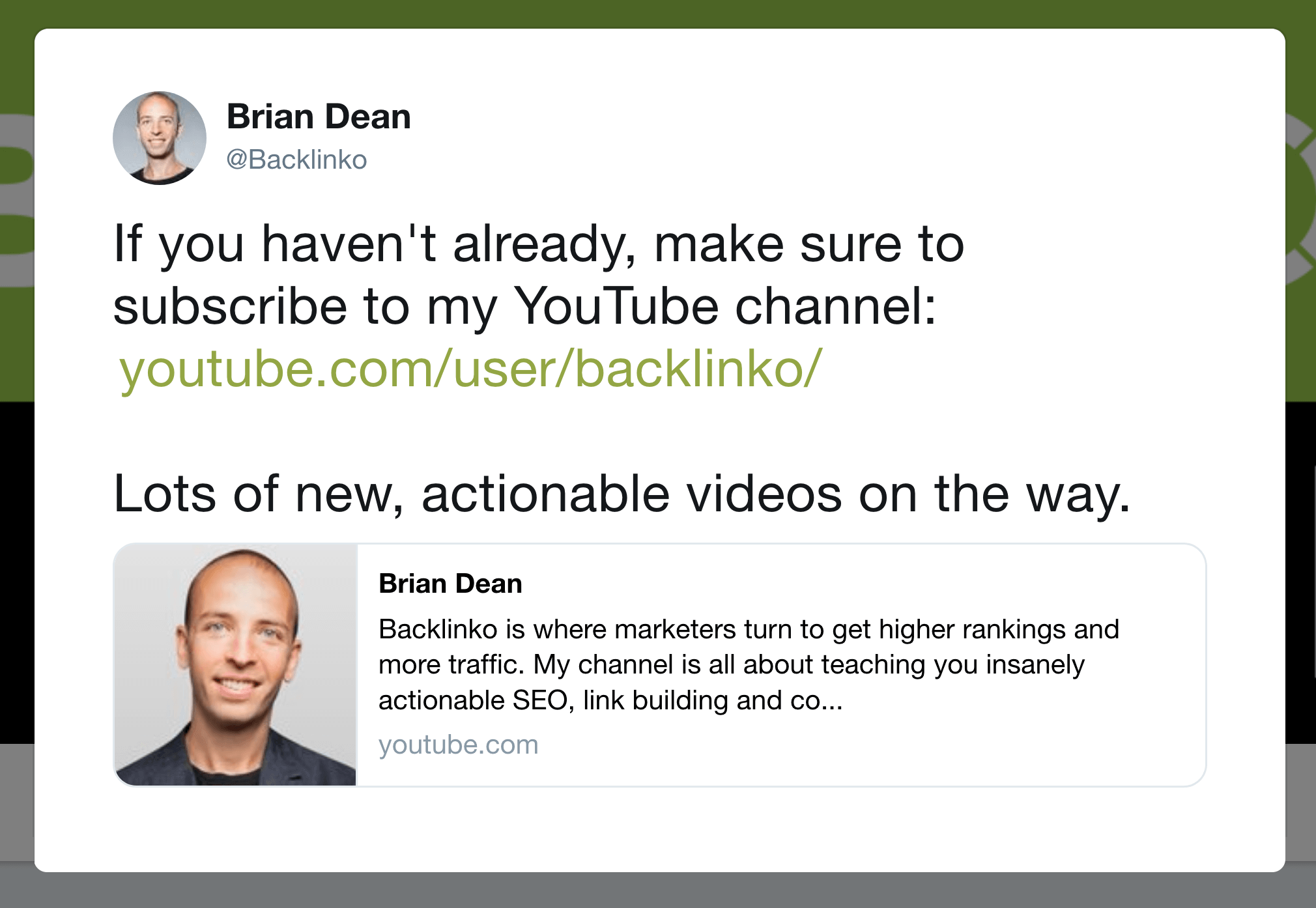 Ask for subscription