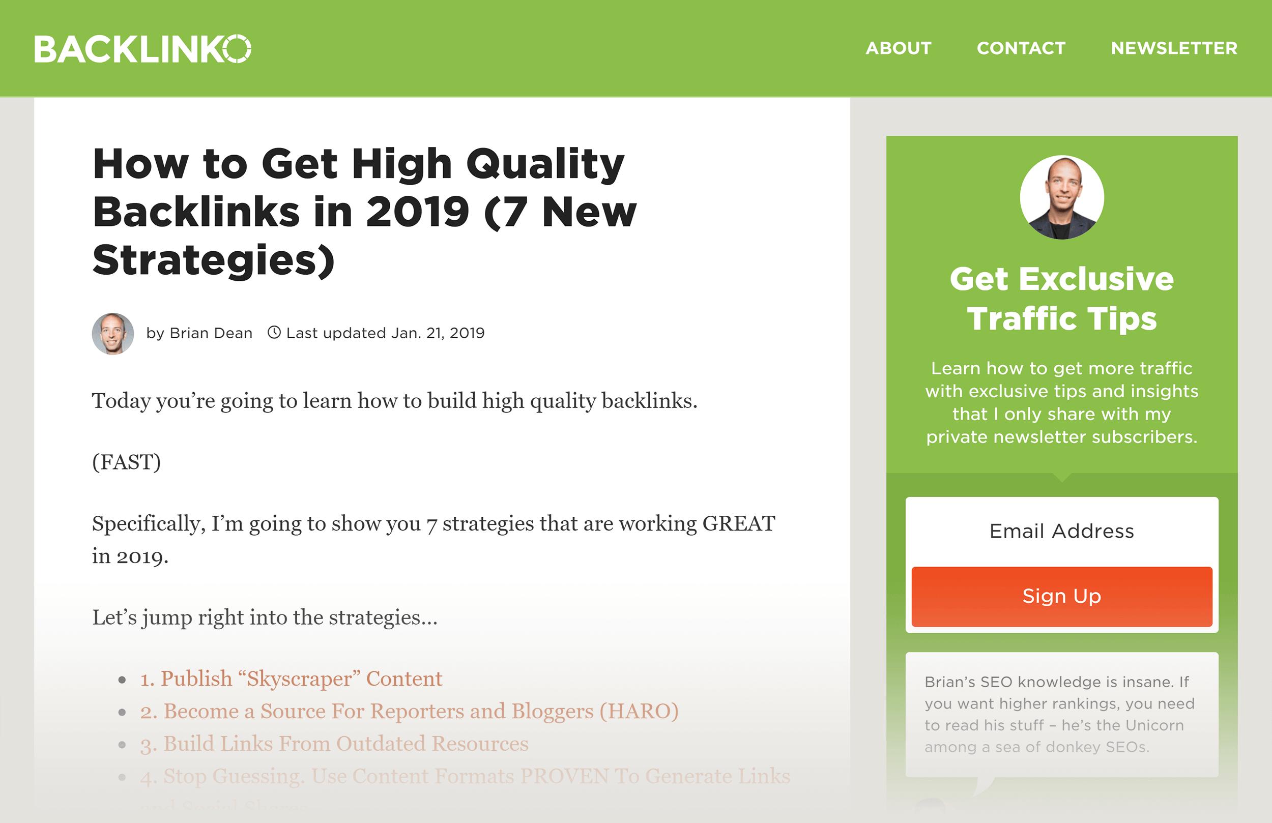 Backlinko – High Quality Backlinks