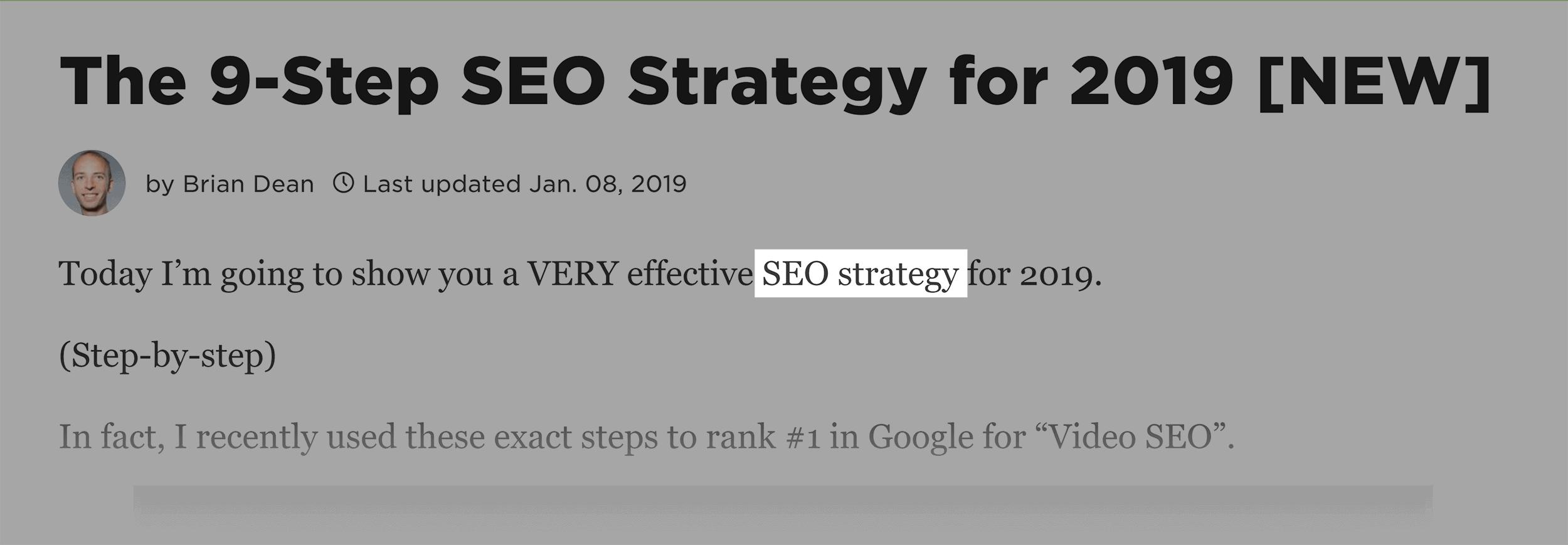 Backlinko – SEO Strategy – Intro
