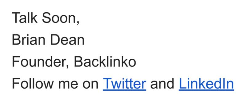 Brian email signature