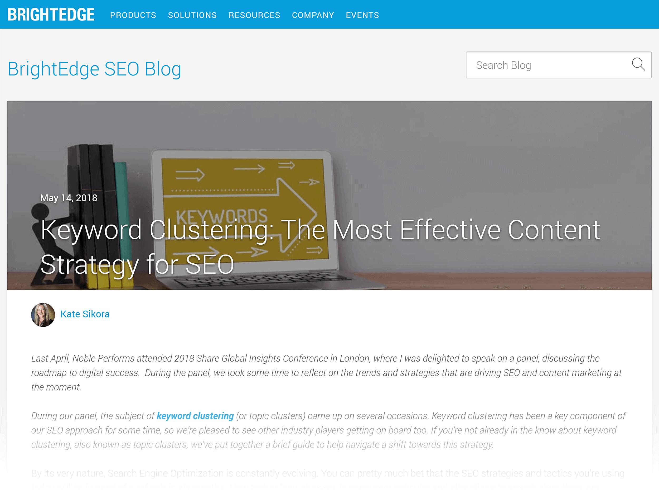 Brightedge – Keyword Clustering
