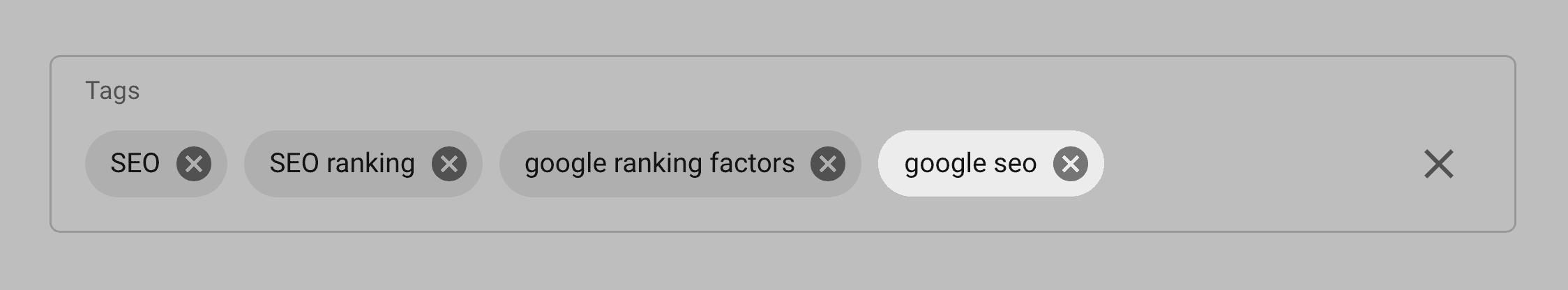 Add term as a tag