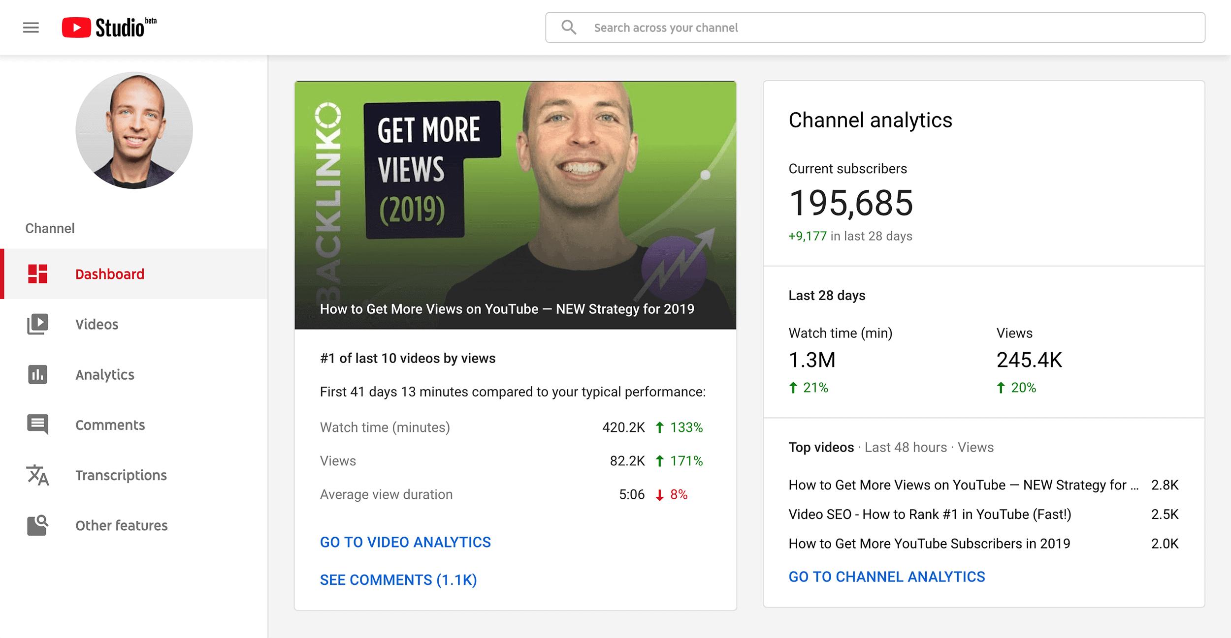 Head to YouTube Dashboard