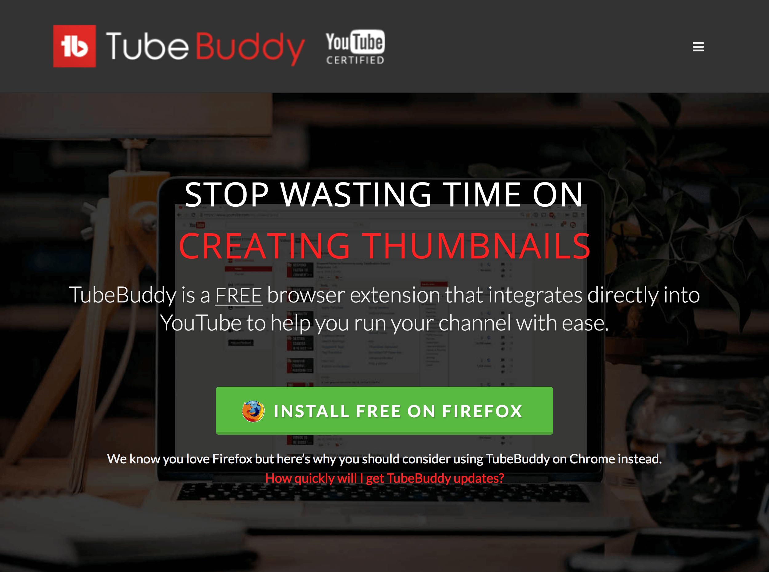 Install TubeBuddy
