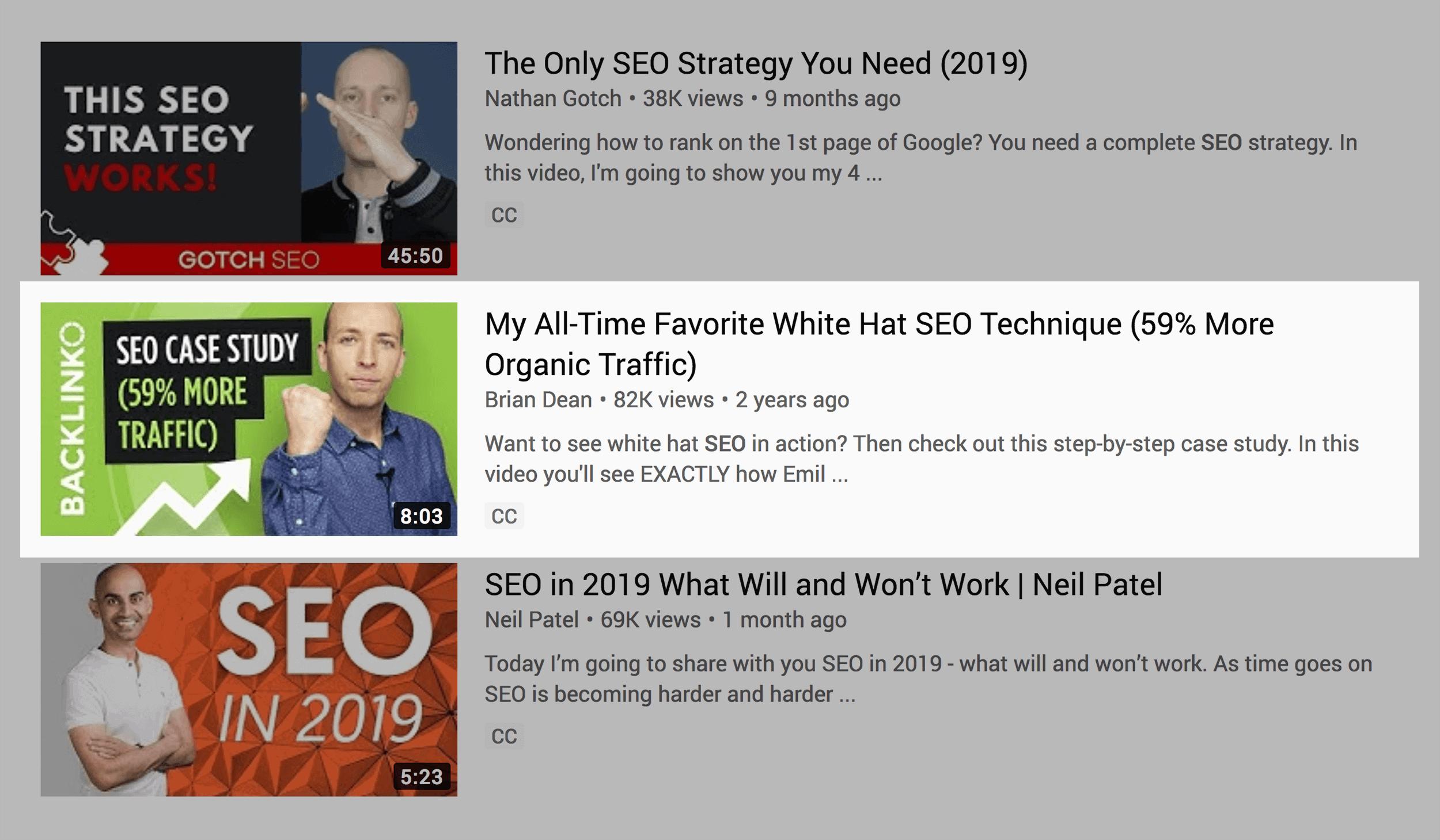 Eye-catching thumbnails