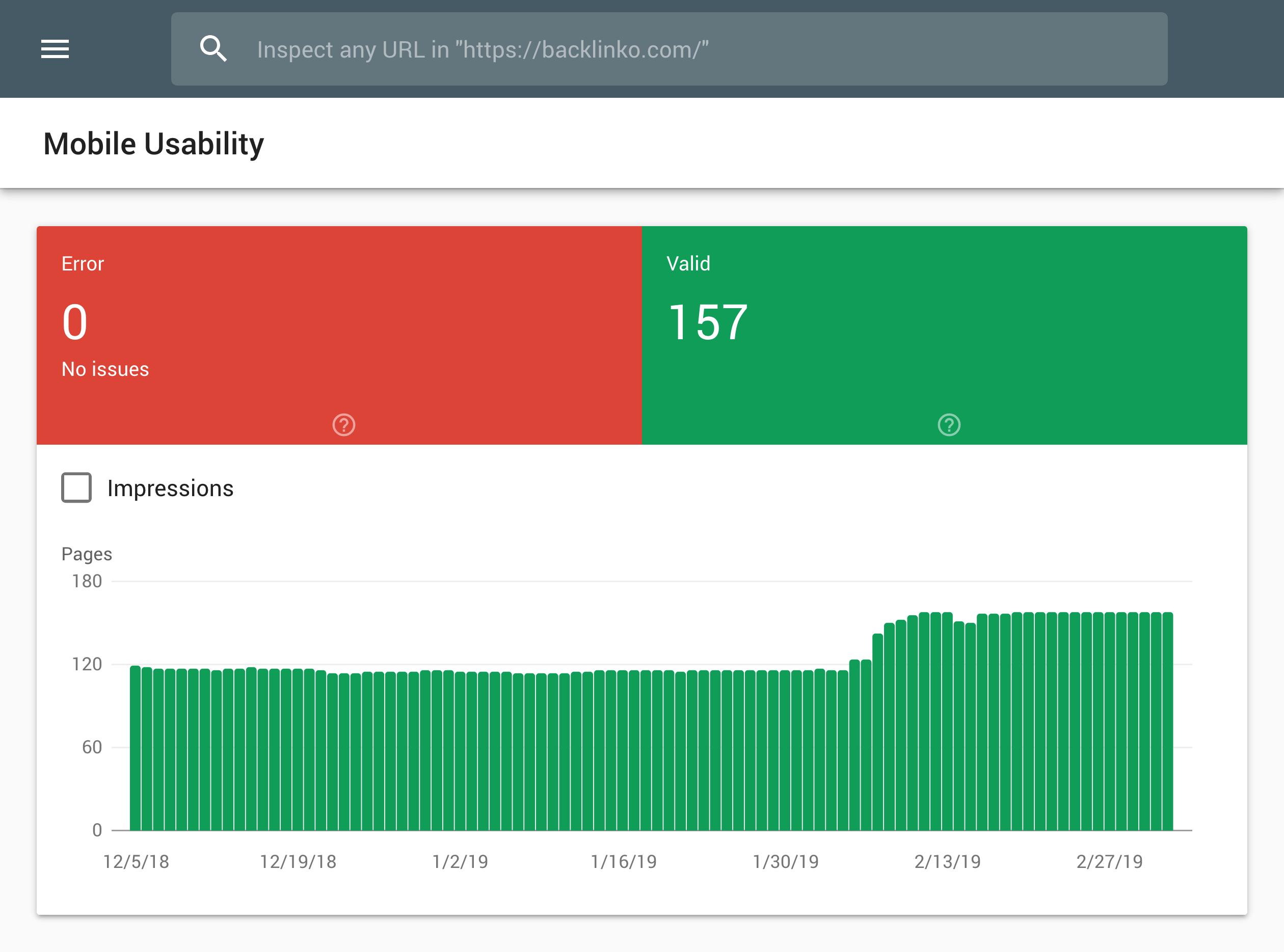Google Search Console – Mobile usability