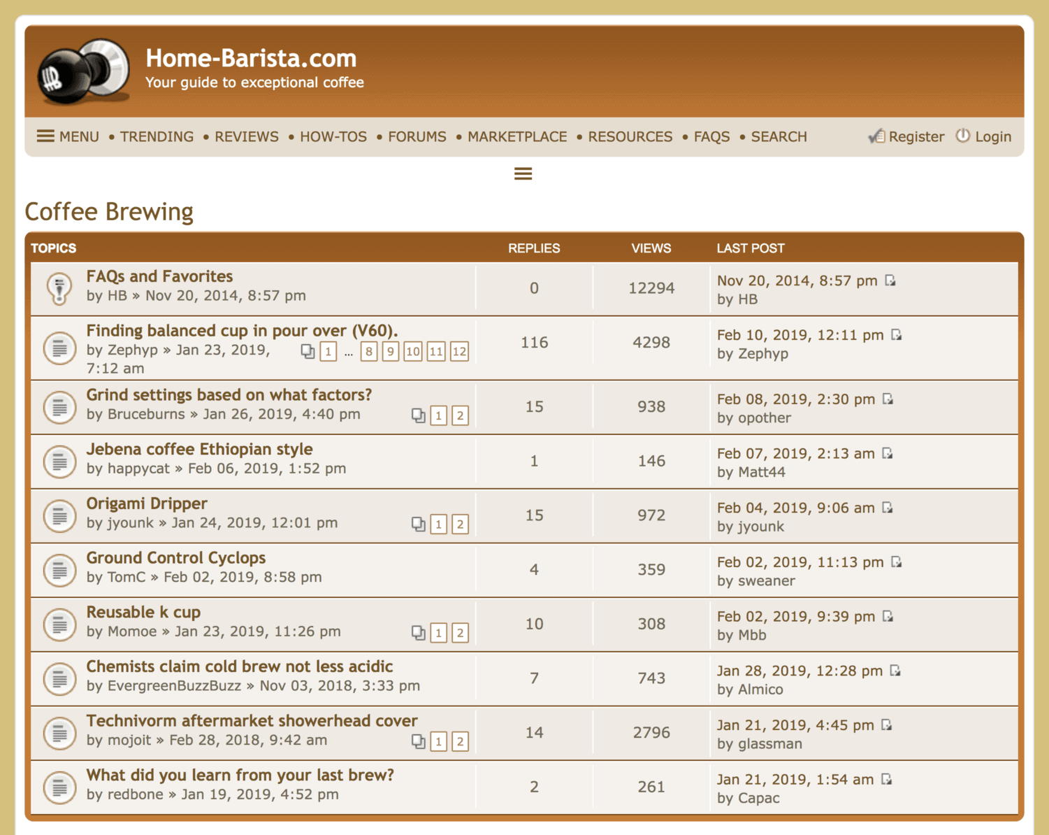 Home Barista – Brewing