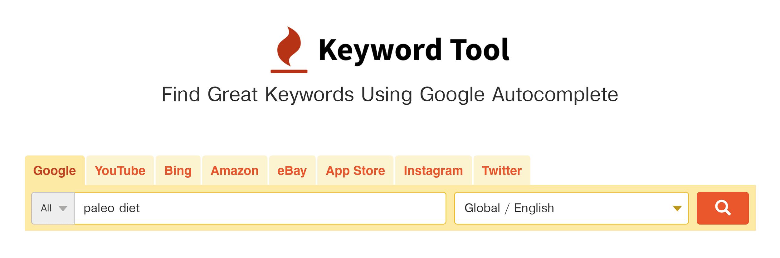 KeywordTool – Search