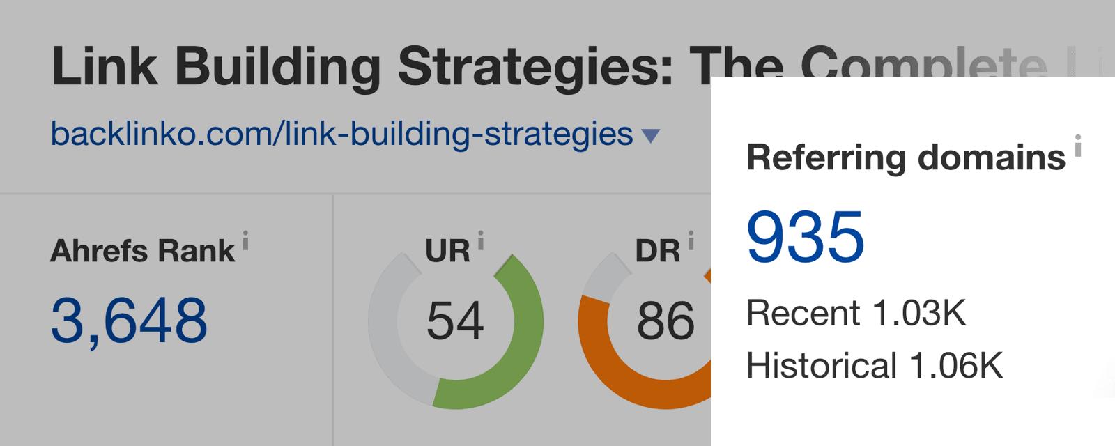 Link Building Strategies – Referring Domains