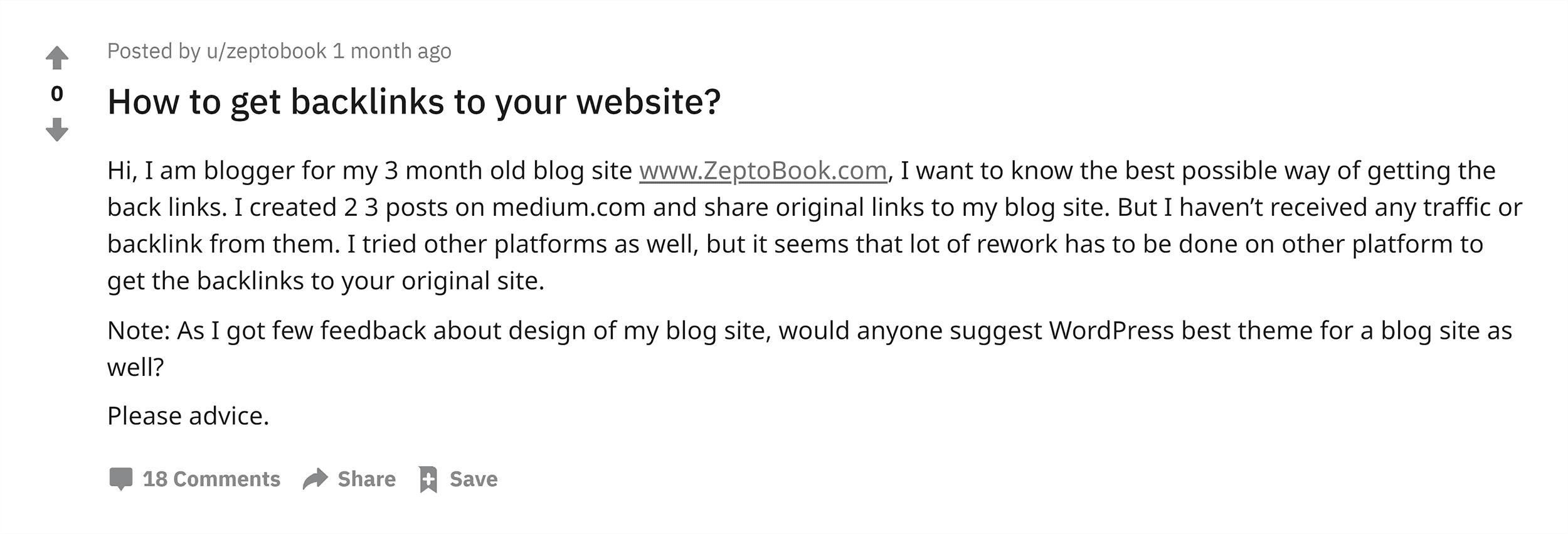 Reddit – SEO – Backlinks