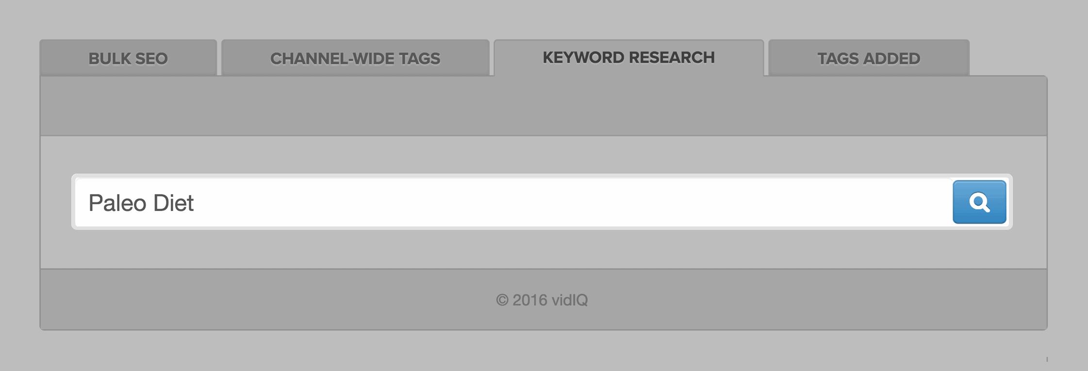 VidIQ – Search