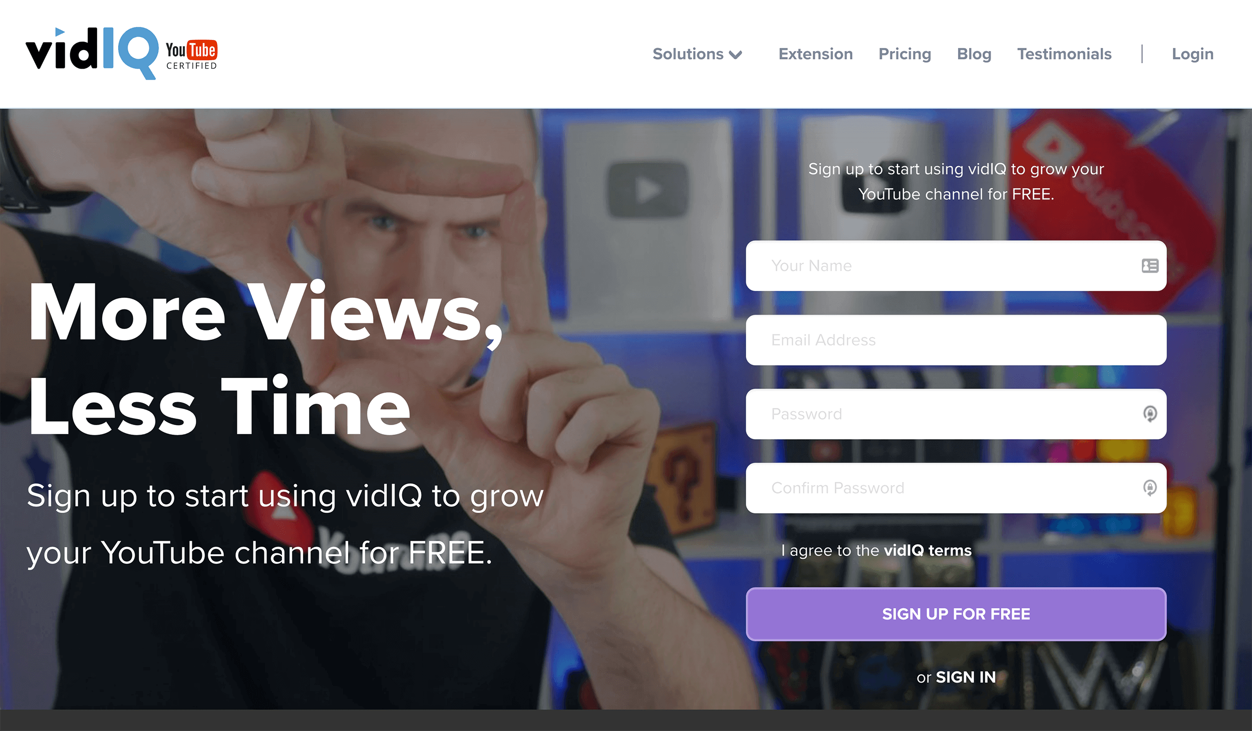 VidIQ – Signup