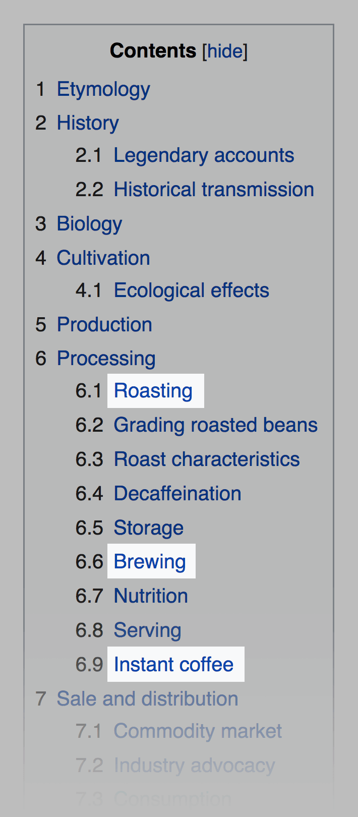 Wikipedia – Contents keywords