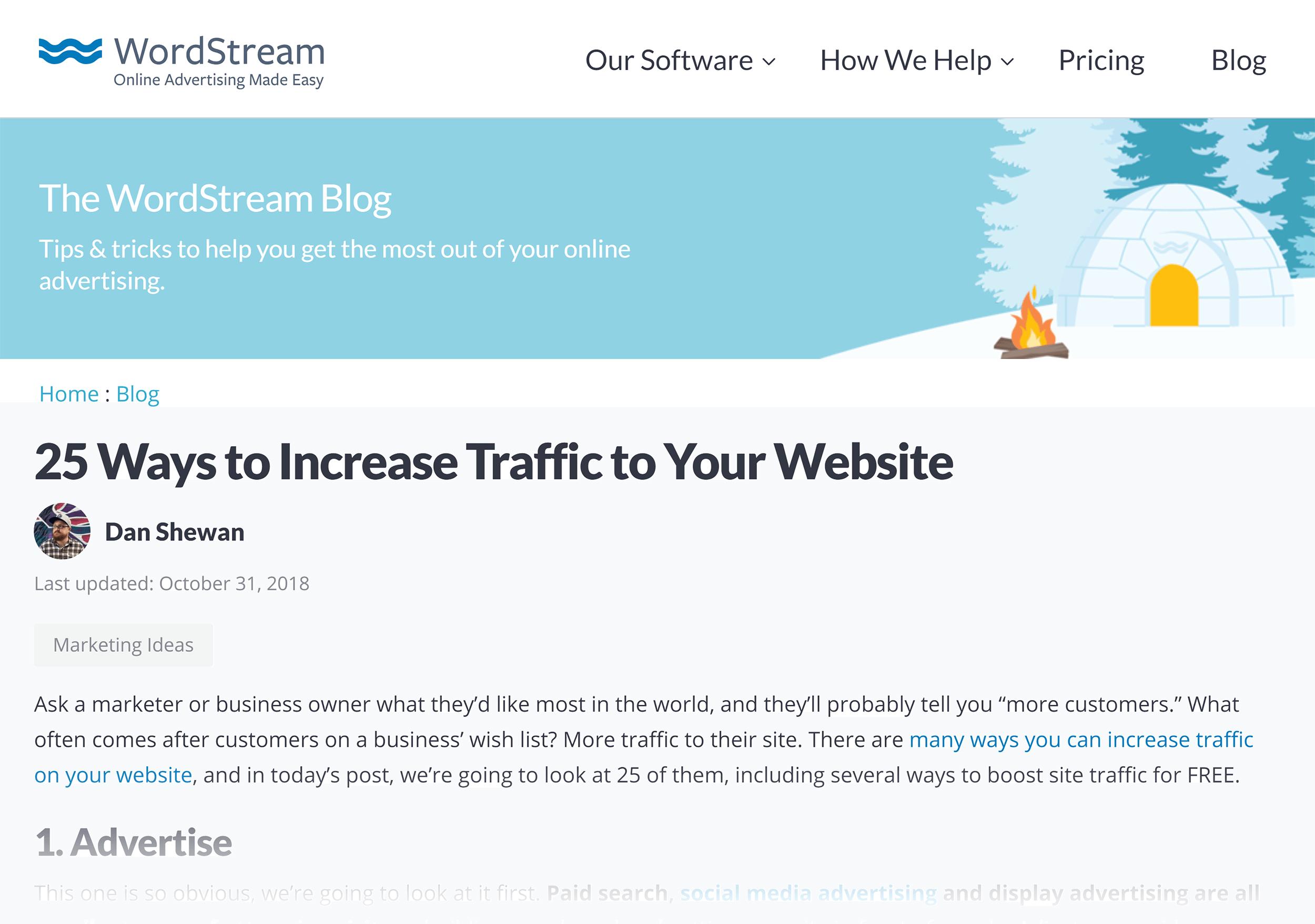 WordStream – Increase Traffic